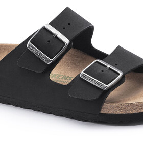 Birkenstock Arizona Sandals Birko-Flor Birkibuc Earthy Vegan Narrow, black